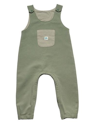 Nila Kids Koyu Yeşil Rengi Erkek Bebek Cepli Organik Tulum NK01013KY (3 AY- 2 YAş) Renkli